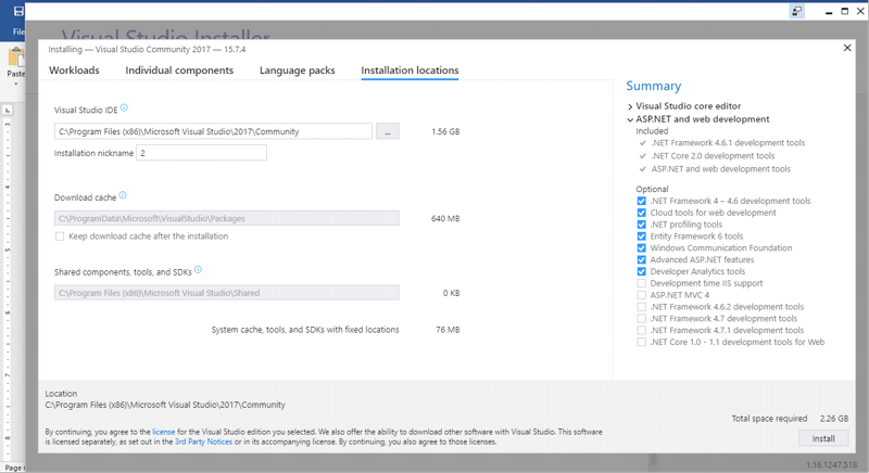 How to download and install visual studio community 2017?